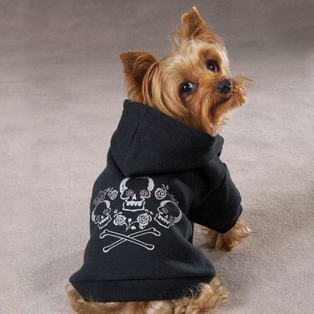 Crowned Crossbone Dog Hoodie