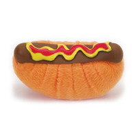 Tiny Hot Dog Plush Dog Toy