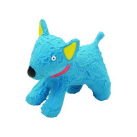 Small Blue Dog Latex Toy