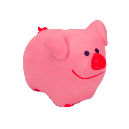 Tiny Latex Pig Dog Toy