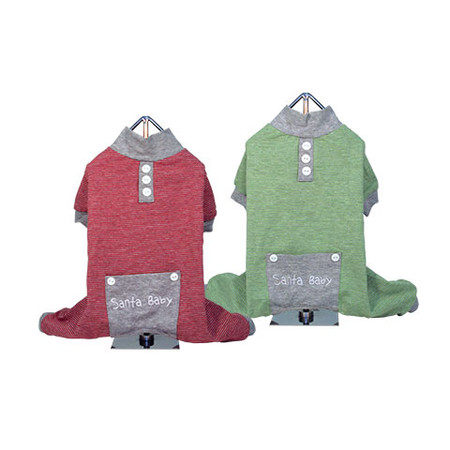 Striped Santa Baby PJ Set