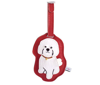 Dog Luggage Tag (Bichon)