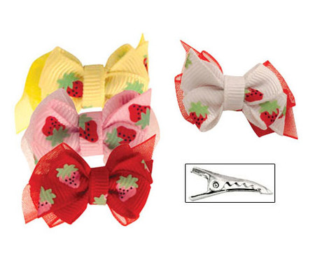 Strawberry Dog Hair Bow