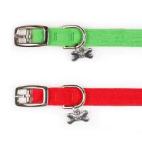 Susan Lanci Holiday Plain Ultrasuede Dog Collars