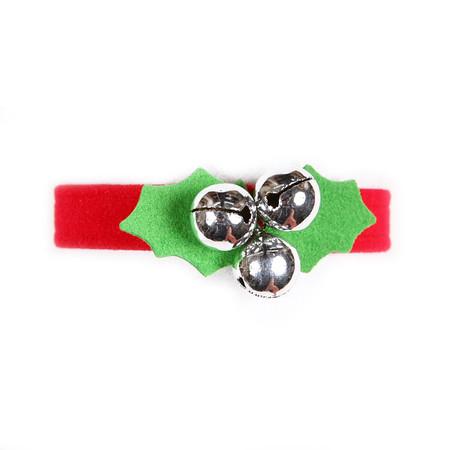 Susan Lanci Jingle Bells Ultrasuede Dog Collar