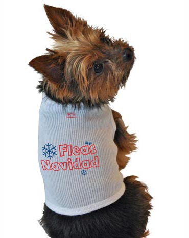 Fleas Navidad Dog Tank Top