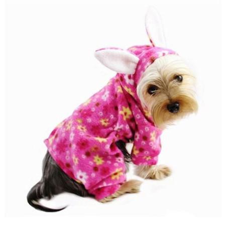 Floral Bunny Fleece Pajamas