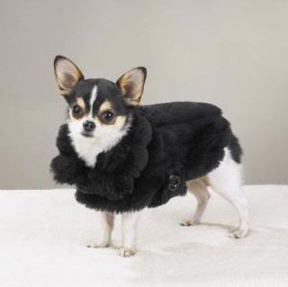 Faux Mink Fur Dog Coat