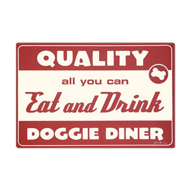 Doggie Diner Foam Rubber Placemat
