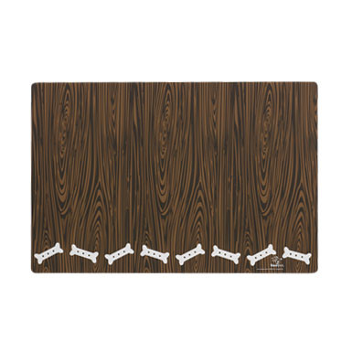 Chocolate Biscuit Wood Grain Dog Placemat