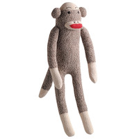 Sock Monkey Dog Toy