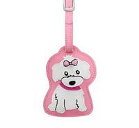 Dog Luggage Tag (Girl Maltese)