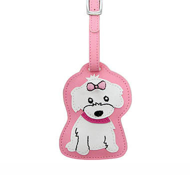 Dog Luggage Tag (Girl Maltese)