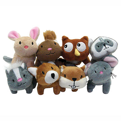 Woodland Critters Mini Dog Toys