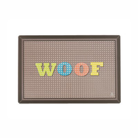 Cross Stitch Woof Dog Placemat