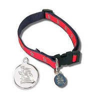 St. Louis Cardinals Dog Collar with ID Tag #1
