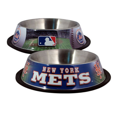 New York Mets Stainless Steel Dog Bowl