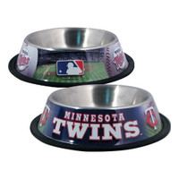 Minnesota Twins Stainless Steel Dog Bowl