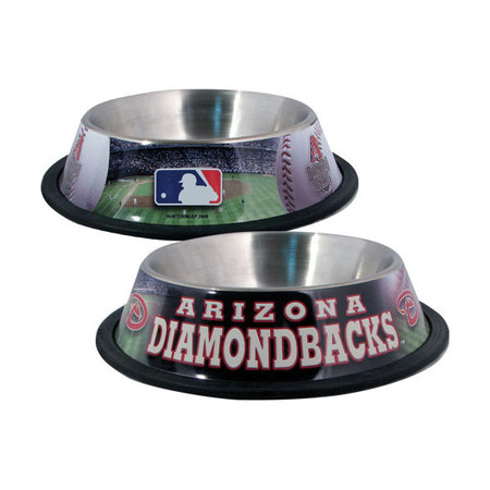 Arizona Diamondbacks Stainless Steel Dog Bowl