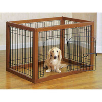 Wood Framed Pet Pens