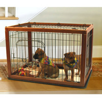 Wood Framed Pet Pen Combo