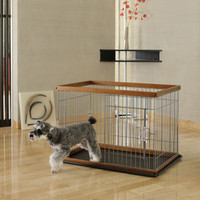2-Way Door Pet Pen with Floor Tray