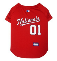 Washington Nationals V-Neck Dog Jersey