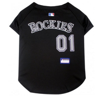 Colorado Rockies V-Neck Dog Jersey