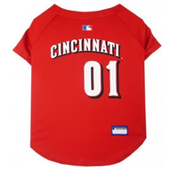 Cincinnati Reds V-Neck Dog Jersey