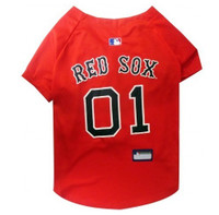 Boston Red Sox V-Neck Dog Jersey