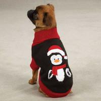 Holiday Penguin Dog Sweater