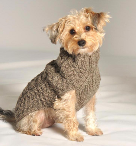 Cable Knit Dog Sweaters