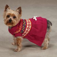 Fair Isle Dog Sweater Dress