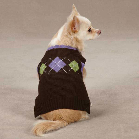Academy Argyle Dog Sweaters