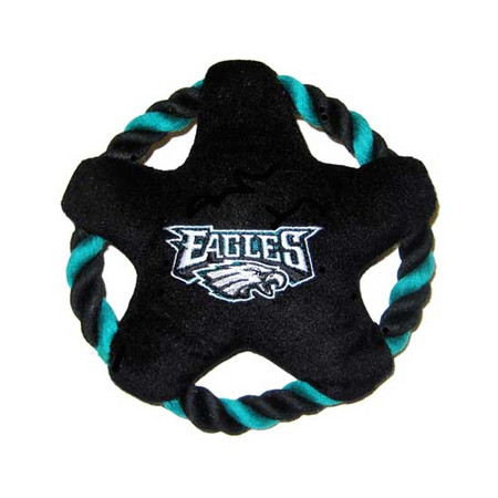 Philadephia Eagles Rope Disk Dog Toy