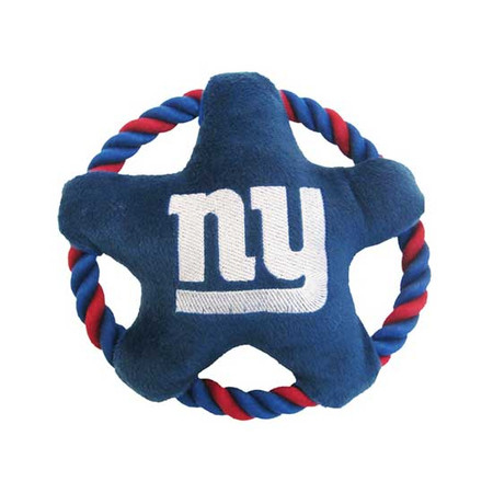 New York Giants Rope Disk Dog Toy