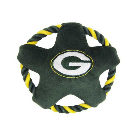 Green Bay Packers Rope Disk Dog Toy