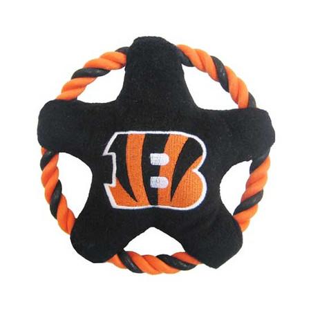 Cincinnati Bengals Rope Disk Dog Toy