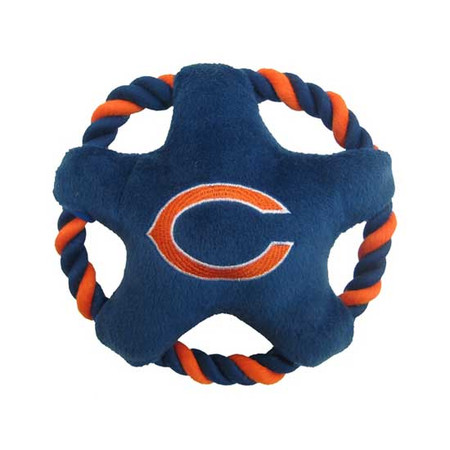 Chicago Bears Rope Disk Dog Toy