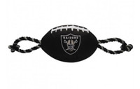 Oakland Raiders Nylon Football Dog Toy