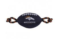 Denver Broncos Nylon Football Dog Toy