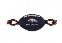 Denver Broncos Nylon Football Dog Toy