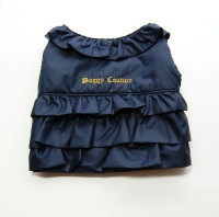 Juicy Couture Ruffle Puffer Vest (L)