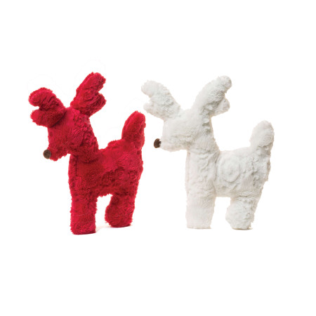 Tiny Tuff Reindeer Dog Toys