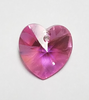 Swarovski crystal heart used.  It is AB Rose (Aurora Borealis, 18X17.5mm)
