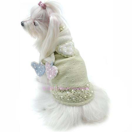 Oscar Newman Little Sweet Hearts Sweater & Scarf Set