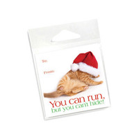 Orange Cat Holiday Gift Tags