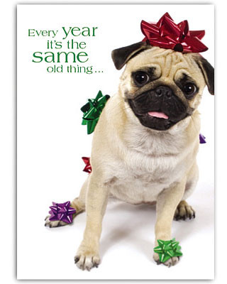 Bah humPug Holiday Card