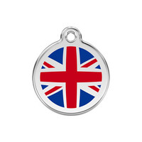 UK Flag Stainless Steel Enamel ID Tag