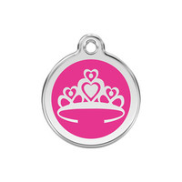 Crown Stainless Steel Enamel ID Tag